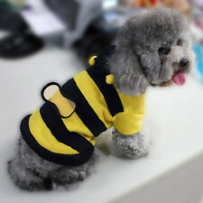 Cute New Fleece Bumble Bee Lovely Wings Dog Cat Pet Costume Apparel Clothes Coat