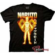Naruto Shippuden Japanese Anime Bijuu Mode Flame Adult T-Shirt Animation Manga