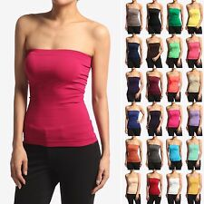 MOGAN BASIC Layering Stretch PLAIN Strapless TUBE TOP Seamless Sleeveless Tee