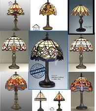 RANGE OF SMALL SIZE TIFFANY STYLE HANDCRAFTED TABLE LAMPS