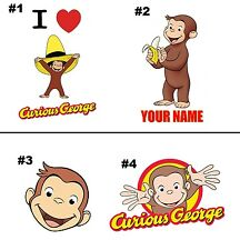 Curious George  T shirt Iron on Transfer 8x9- 5x6 -3x3
