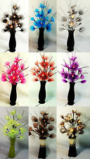 artificial flower arrangement with electric led lights lamps in 9 lovely colours