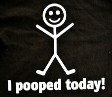 I POOPED  TODAY~KIDS /YOUTH FUNNY T SHIRT POOPED ~T SHIRT~KIDS TEE COLORS & SIZE