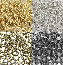200 new Jump Rings Gold Silver Bronze Black plated Choice of Colour / size