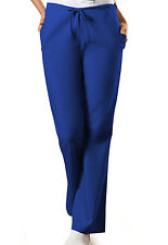 Galaxy Blue Cherokee Workwear FlareLeg Drawstring Scrub Pants 4101 GABW