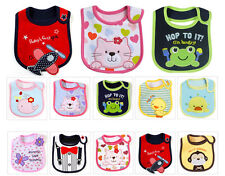 Cartoon Baby Boy Girl infant Lunch bibs Cotton Saliva Towel towels Waterproof