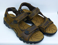 "Northwest Gents Brown Leather Velcro Sandal ""ARABIA"""