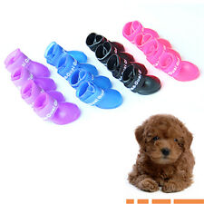 New Dog Waterproof Boots Protective Rubber Pet Rain Shoes Booties Candy Colors