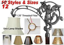 Uno Shade Floor Lamp Shade Screw On Fitter Lampshade Bridge Arm, Gooseneck Lamps