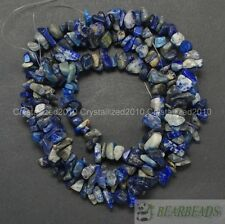 Natural AB+ Lapis Lazuli Gemstone 5-8mm Chip Beads Spacer 35'' Bracelet Necklace