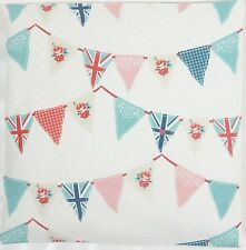 Fryetts Shabby Chic Union Jack Bunting Red Pink Blue Cushion Cover All Sizes
