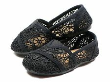Brand New Toddler Classic Crochet Slip On Flat Shoes SZ 4-9