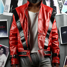 Michael Jackson MJ Costume Thriller Red Jacket Replica Free Billie Jean Gif