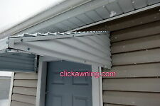 "UP TO 46"" wide X 36"" deep X 10""OR 12""OR 15""aluminum awning Window Door Patio KIT"