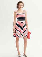 Banana Republic Milly Collection Striped Fit and Flare Dress,6P,8P or 12P