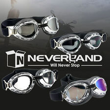4 colors Aviator Pilot Cruiser Motorcycle Scooter ATV Goggle Eyewear Clear Lens