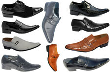 MENS SHOES PATENT FASHIONABLE  COLOR DESIGNER CASUAL FORMAL OFFICE WEDDING PARTY
