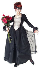 Eternal Love Pewter+Black Gothic Crucifix+Roses Belle Dame Gown Dress XS-1X