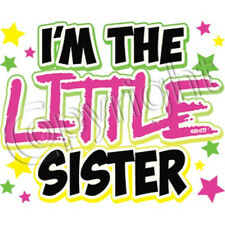 I'm the Little Sister Neon Pink Print T Shirt Kids Infant Tee