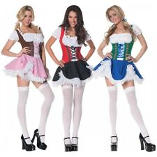 German Beer Girl Costume Sexy Fraulein Fancy Dress Oktoberfest Serving Wench