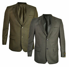 New Farah Mens Premium Tweed Wool Mix Blazer Casual &Grey Olive Sports Jacket