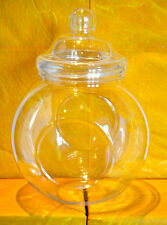 1-12, Large Clear Plastic Sweet/Cookie Jars with Victorian Domed Lids (3200ml)