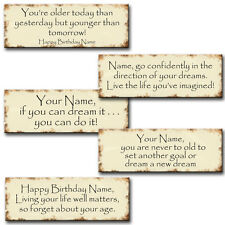 PERSONALISED BIRTHDAY RECTANGLE LARGE WALL PLAQUE/MAGNET