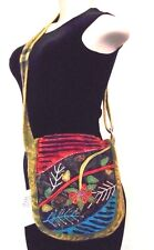 RISING INTERNATIONAL Nepal HIPPIE HOBO Handmade Cotton Crossbody Purse Hobo Bag