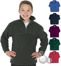 Kids Jumper Size 4 6 8 10 12 14 Windcheater Fleece Zip Top School New!