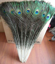 "50pcs100pcs Wholesale natural beauty peacock eye feather 78-90cm/30.7""-35""inch"