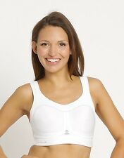 Pure Lime Compression Bra - White