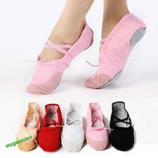 Womens Comfortable Canvas Ballet Dance Shoes Suitable For Children,Teenage,Adult