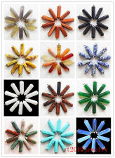 10pcs Mixed Gemstone pendulum Pendant Bead Mayan-124