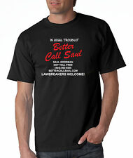 Better Call Saul Tee Shirt Heisenberg Los Pollos Funny Breaking Bad Small-5XL!