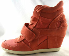 ASH BOWIE SUEDE PEACH WEDGE SNEAKER SHOES 35-41