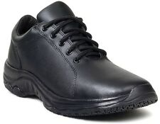 Men's Michelin XNS3313 Slip Resistant Black Leather Non-Safety Toe Work Shoes