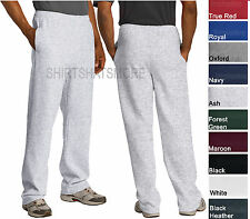 Jerzees Mens Blended Open Bottom Sweatpants WITH Pockets 10 Colors S-3XL NEW