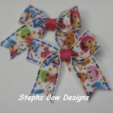 LOT 2 LALALOOPSY DAINTY PIGTAIL CHEER HAIR BOW SET  SO CUTE4 BABY TODDLER INFANT