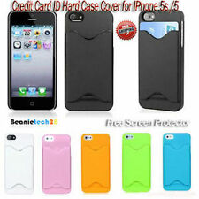 Color Credit Card ID Holder Case Skin Cover for IPhone 5s/5 - Free Shipping!