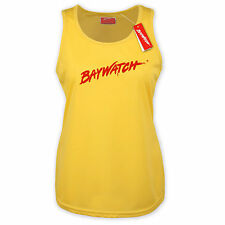 LICENSED BAYWATCH ® LADIES YELLOW RACER BACK LIFEGUARD VEST TOP BEACH PARTY