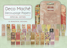 * Deco Mache 3 Sheets for Decopatch / decoupage - Choose from over 40 Designs *