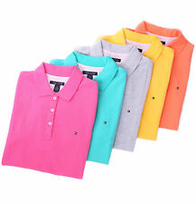 Tommy Hilfiger Women Classic Fit Short Sleeve Pique Polo Shirt - Free $0 Ship