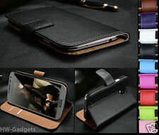 Apple iPhone 5C Genuine Real Leather Flip Wallet Slim Case Cover + Free Stylus
