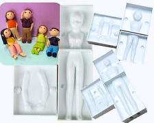3D Woman/Man/Child People Cake Decorating Fondant Craft Tool Mould Baking Cutter