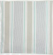 Clarke and Clarke Sail Stripe Surf Taupe  Duck Egg Cushion Cover Choice of Sizes