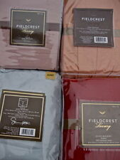 Fieldcrest Bedskirt:Gray Brown Blue Coral Queen King Luxury Cotton Matelasse NEW