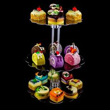3 Tier Clear Acrylic Cupcake Cake Centerpiece Stand Weddings Baby Shower Party