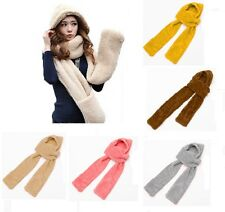 Ladies All In One Winter Fashion Scarf Gloves Hat Gift Set Warm Cosy