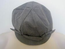 GAP Women's Black & Gray Houndstooth Plaid Newsboy Hat Size S/M,M/L NWT