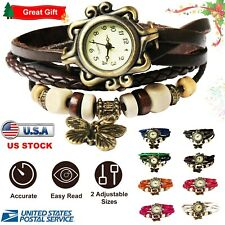 Watch Women's Boho-Chic Vintage-Inspired Handmade w/ Assorted Colors ~ Butterfly